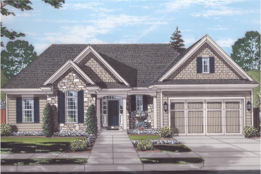 3-Bedroom, 1867 Sq Ft Traditional Home Plan - 169-1139 - Main Exterior