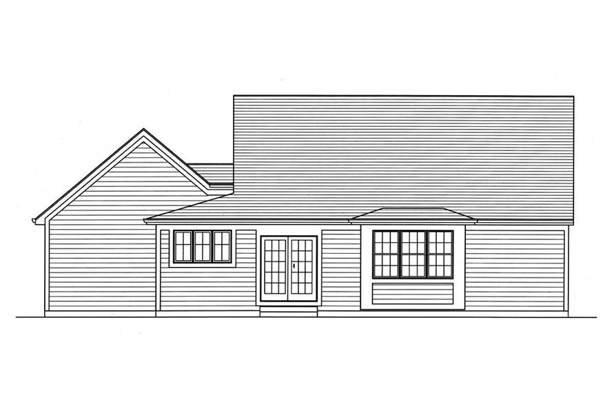 Home Plan Rear Elevation of this 3-Bedroom,1664 Sq Ft Plan -169-1146