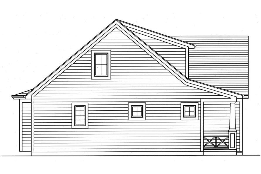 Home Plan Left Elevation of this 3-Bedroom,1664 Sq Ft Plan -169-1146