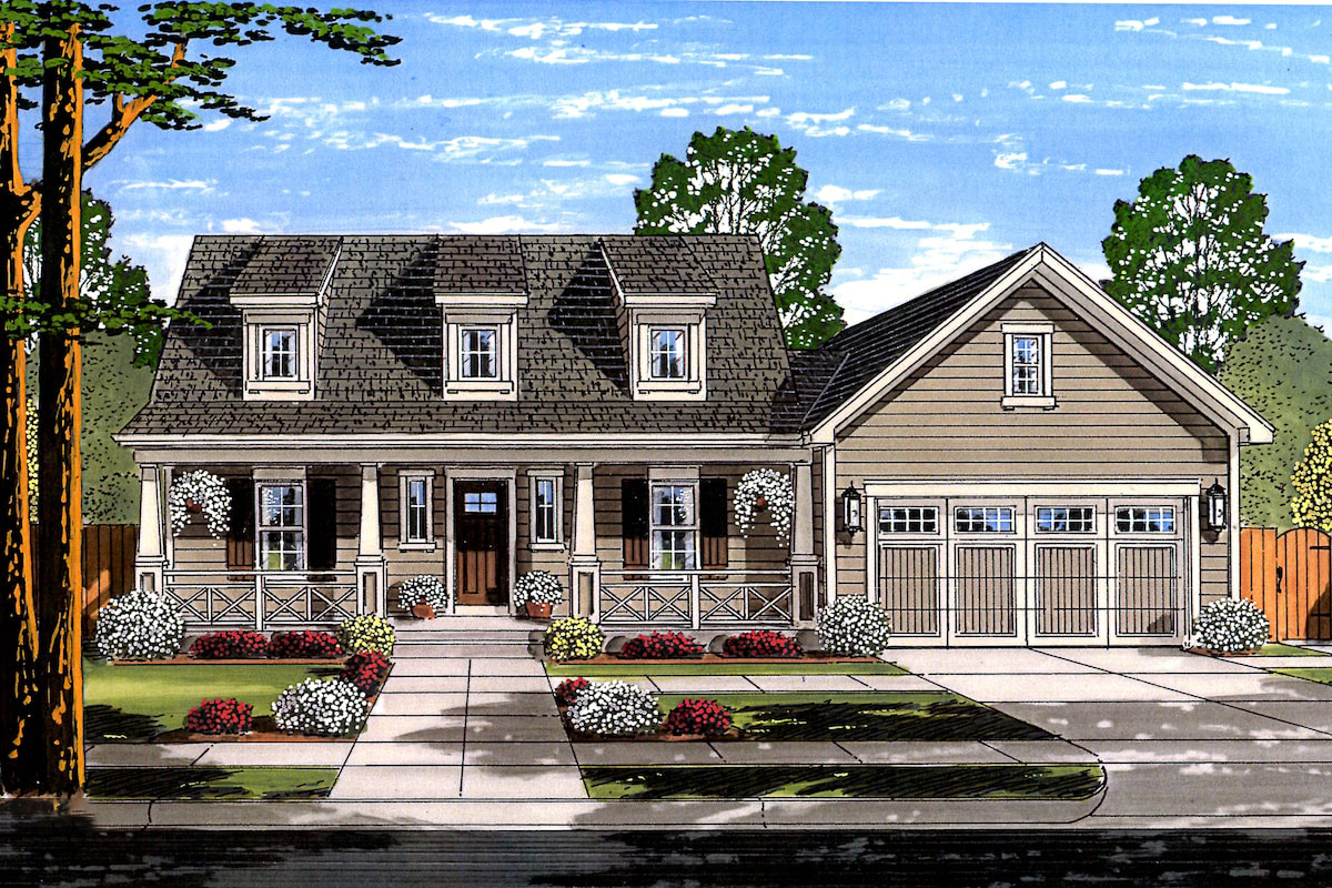 Cape Cod House Plan 3 Bedrms 2 5