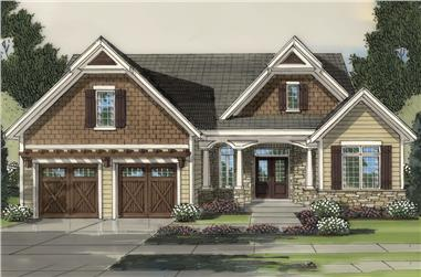 Cottage home plan (ThePlanCollection: House Plan #169-1149)