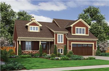 Front elevation of Cape Cod home (ThePlanCollection: House Plan #169-1151)