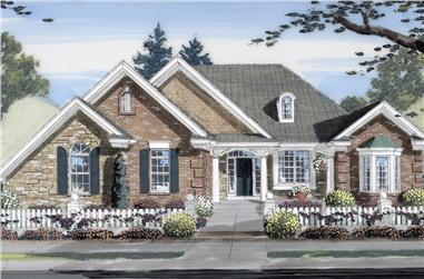 Front elevation of Ranch home (ThePlanCollection: House Plan #169-1152)