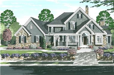 4-Bedroom, 3192 Sq Ft Country House Plan - 169-1153 - Front Exterior