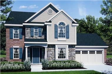 Front elevation of Traditional home (ThePlanCollection: House Plan #169-1154)