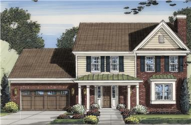 Front elevation of Traditional home (ThePlanCollection: House Plan #169-1157)