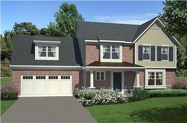 Front elevation of Traditional home (ThePlanCollection: House Plan #169-1158)