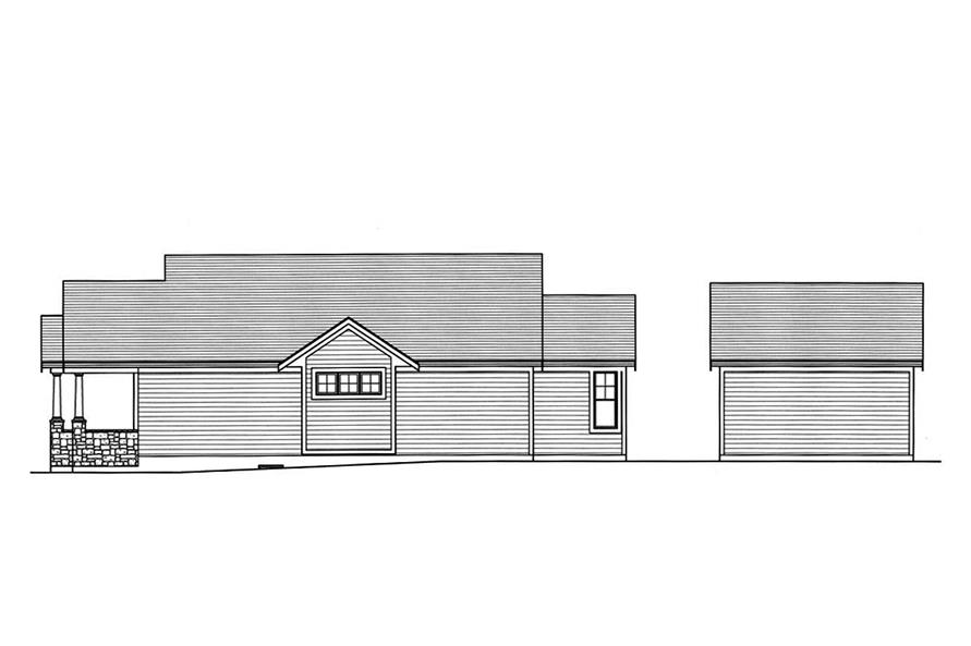 Home Plan Right Elevation of this 3-Bedroom,1403 Sq Ft Plan -169-1160