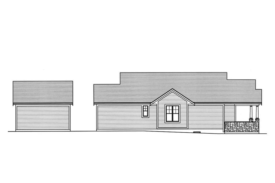 Home Plan Left Elevation of this 3-Bedroom,1403 Sq Ft Plan -169-1160