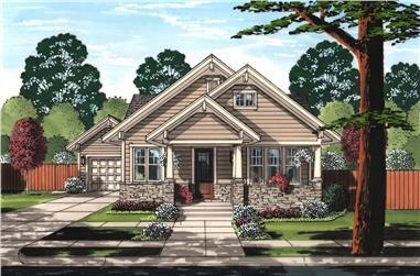 3-Bedroom, 1403 Sq Ft Craftsman Home  -Plan 169-1160 - Main Exterior