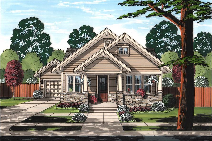 3-Bedroom, 1403 Sq Ft Craftsman Home  -Plan 169-1160 - Main Exterior