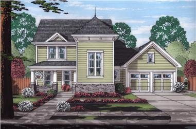 Craftsman home plan (ThePlanCollection: House Plan #169-1164)
