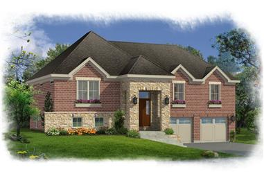 Front elevation of Ranch home (ThePlanCollection: House Plan #169-1167)