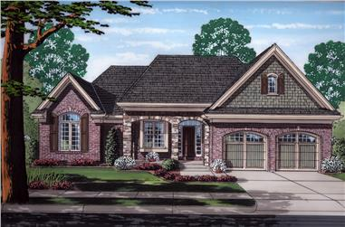 Front elevation of Traditional home (ThePlanCollection: House Plan #169-1168)