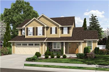 Front elevation of Traditional home (ThePlanCollection: House Plan #169-1169)