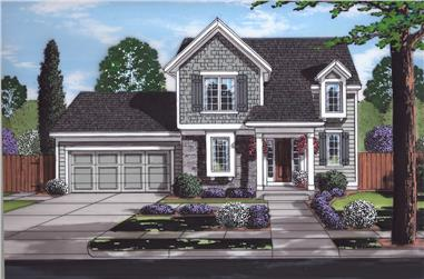 Front elevation of Traditional home (ThePlanCollection: House Plan #169-1170)