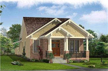 Front elevation of Cottage home (ThePlanCollection: House Plan #169-1171)