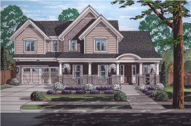 Front elevation of Country home (ThePlanCollection: House Plan #169-1172)