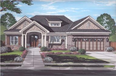 Front elevation of Ranch home (ThePlanCollection: House Plan #169-1173)