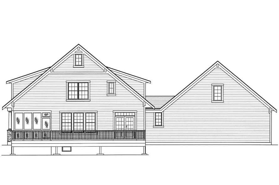 Home Plan Rear Elevation of this 3-Bedroom,2135 Sq Ft Plan -169-1175