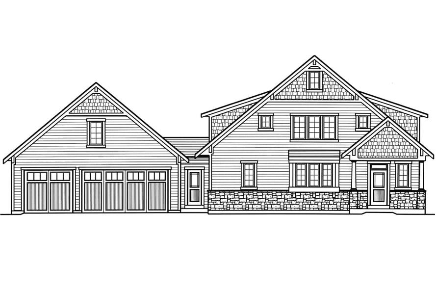 169-1175: Home Plan Front Elevation