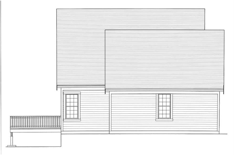 Home Plan Left Elevation of this 3-Bedroom,2135 Sq Ft Plan -169-1175