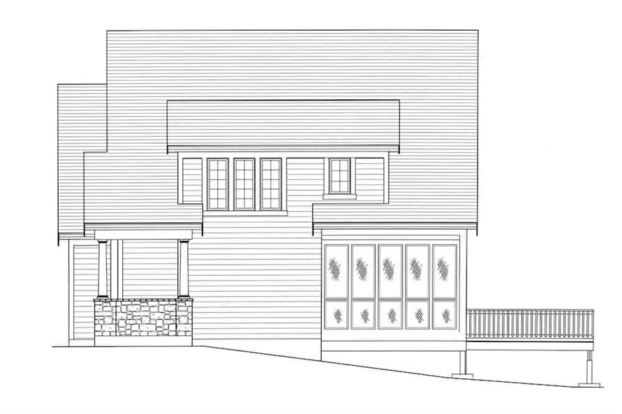 169-1175: Home Plan Right Elevation