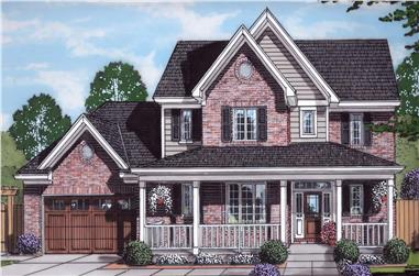 4-Bedroom, 2076 Sq Ft Farmhouse Home Plan - 169-1177 - Main Exterior