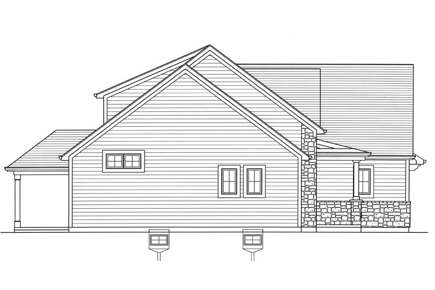 Home Plan Left Elevation of this 4-Bedroom,2052 Sq Ft Plan -169-1179