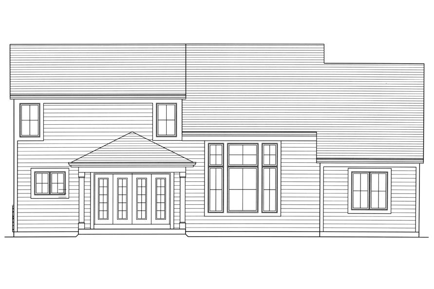 Home Plan Rear Elevation of this 4-Bedroom,2052 Sq Ft Plan -169-1179