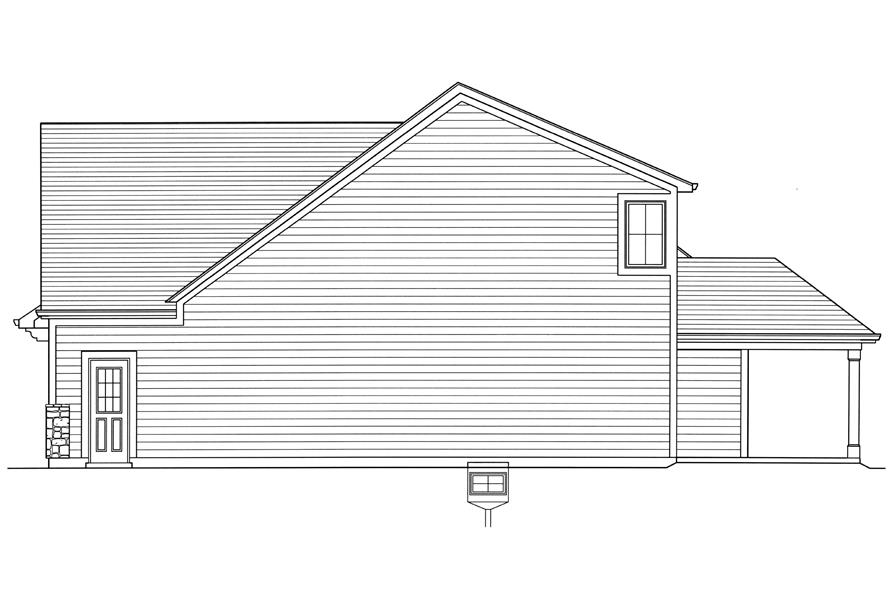 Home Plan Right Elevation of this 4-Bedroom,2052 Sq Ft Plan -169-1179