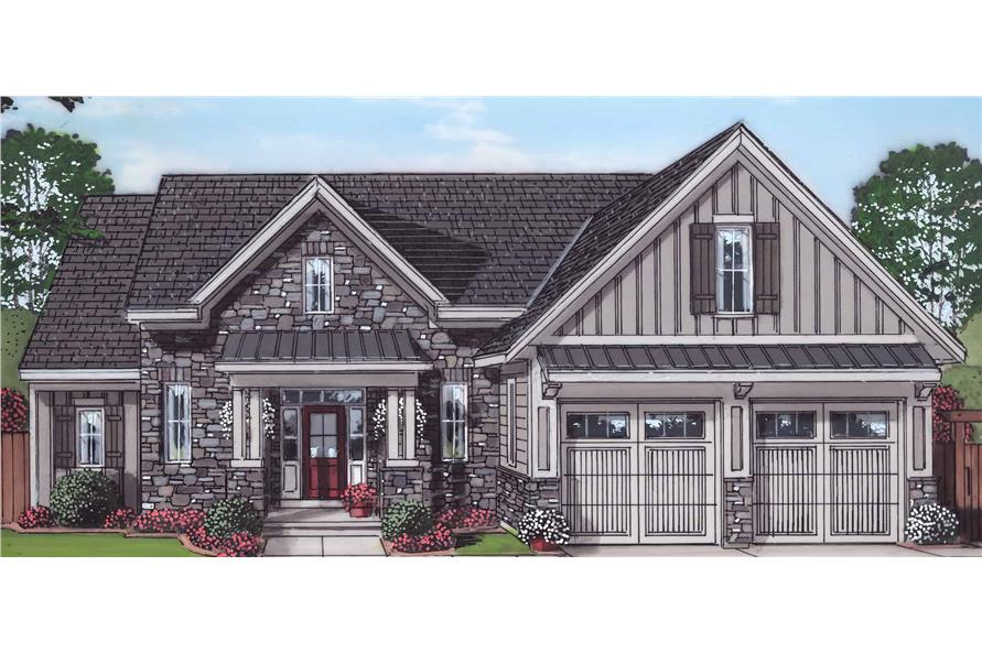 4-Bedroom, 2052 Sq Ft Farmhouse Home - Plan #169-1179 - Main Exterior