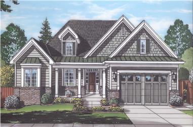 3-Bedroom, 1814 Sq Ft Ranch Home Plan - 169-1180 - Main Exterior