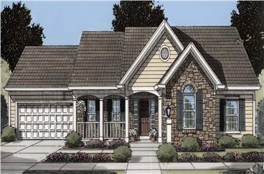 3-Bedroom, 1535 Sq Ft Ranch Home Plan - 169-1181 - Main Exterior