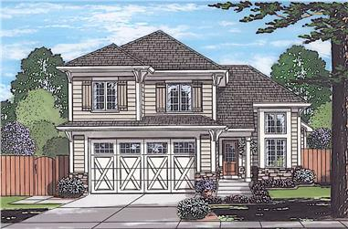 3-Bedroom, 1570 Sq Ft Traditional Home - Plan #169-1187 - Main Exterior