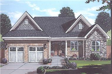 3-Bedroom, 1971 Sq Ft Ranch House - Plan #169-1191 - Front Exterior