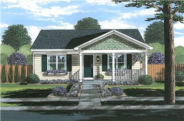 2-Bedroom, 1029 Sq Ft Ranch Home - Plan #169-1192 - Main Exterior