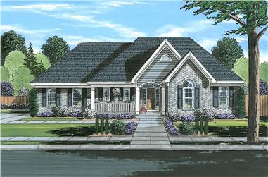 3-Bedroom, 1764 Sq Ft Ranch House - Plan #169-1193 - Front Exterior