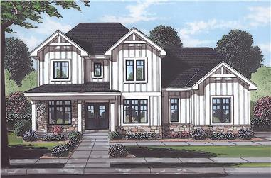 4-Bedroom, 2700 Sq Ft Traditional House - Plan #169-1194 - Front Exterior