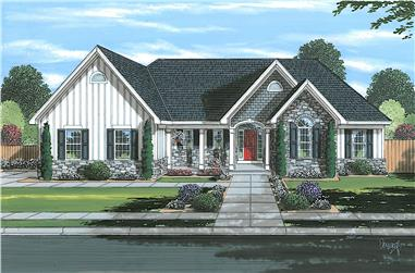 3-Bedroom, 1706 Sq Ft Cottage House - Plan #169-1195 - Front Exterior