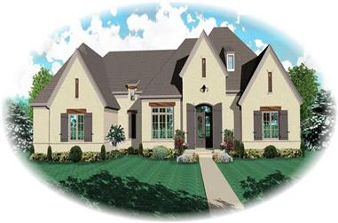 5-Bedroom, 4580 Sq Ft Southern House Plan - 170-1000 - Front Exterior