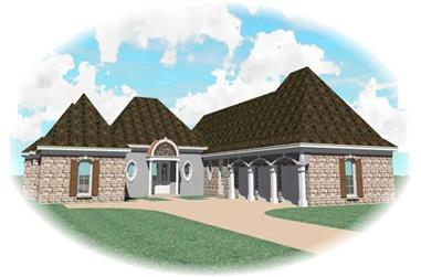 4-Bedroom, 3981 Sq Ft Southern House Plan - 170-1014 - Front Exterior