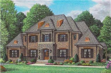 4-Bedroom, 5640 Sq Ft Luxury House Plan - 170-1016 - Front Exterior