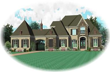 5-Bedroom, 4722 Sq Ft Southern Home Plan - 170-1017 - Main Exterior