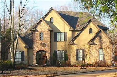 4-Bedroom, 5319 Sq Ft Luxury House Plan - 170-1021 - Front Exterior