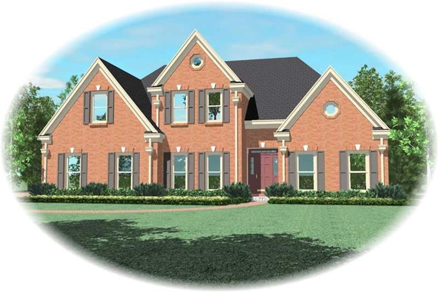4-Bedroom, 2968 Sq Ft Southern Home Plan - 170-1024 - Main Exterior