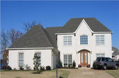 3-Bedroom, 3505 Sq Ft Southern House Plan - 170-1029 - Front Exterior