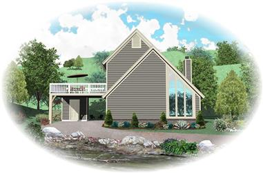 3-Bedroom, 1272 Sq Ft Small House Plans - 170-1031 - Main Exterior