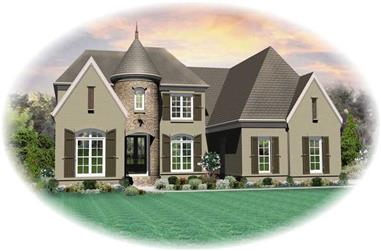 6-Bedroom, 3934 Sq Ft Southern House Plan - 170-1034 - Front Exterior