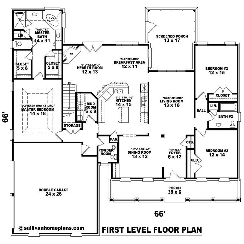 Southern House Plans Home Design Su 2465 498 1121 Lp 20377